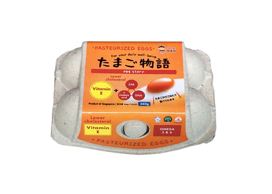 Vitamin-E-360g-6pcs Pasteurized Shell Eggs